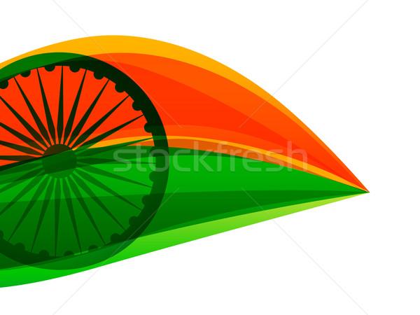 Indian vlag driekleur blad stijl vector Stockfoto © Pinnacleanimates
