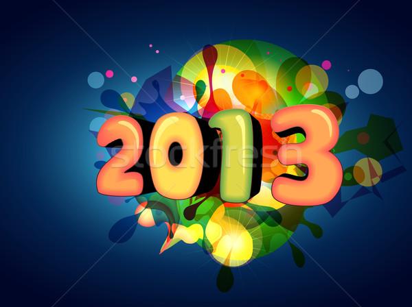 Elegante año nuevo diseno vector colorido feliz año nuevo Foto stock © Pinnacleanimates