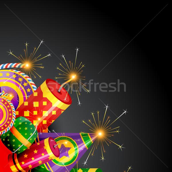 Stock photo: stylish diwali background