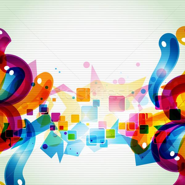 Funky artistico eps10 design colorato arte Foto d'archivio © Pinnacleanimates
