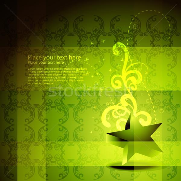 vector green star artwork Stock photo © Pinnacleanimates