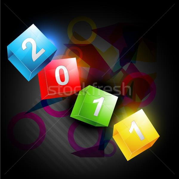 új év vektor terv háttér művészet kártya Stock fotó © Pinnacleanimates