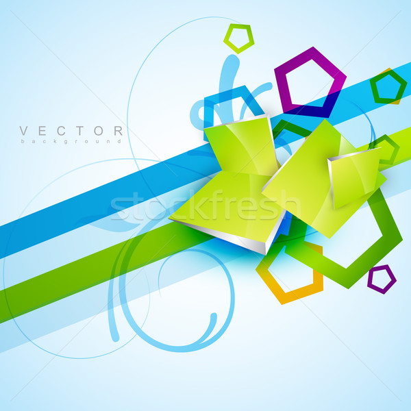 Vorm vector abstracte vorm eps10 ontwerp illustratie Stockfoto © Pinnacleanimates