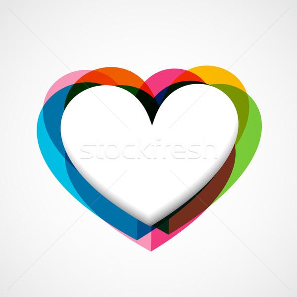 Funky Vektor Herz farbenreich Design Hochzeit Stock foto © Pinnacleanimates