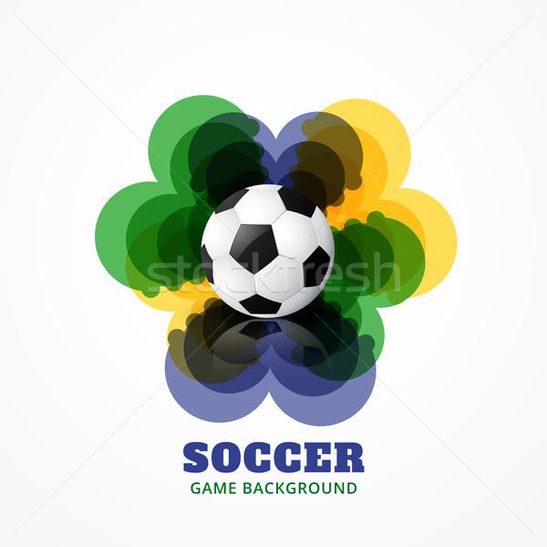 Abstrato jogo de futebol futebol projeto espaço futebol Foto stock © Pinnacleanimates