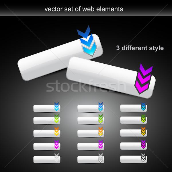 Vector ingesteld verschillend stijl web knoppen Stockfoto © Pinnacleanimates