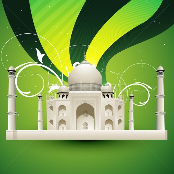 Taj Mahal vecteur belle ciel résumé Voyage Photo stock © Pinnacleanimates
