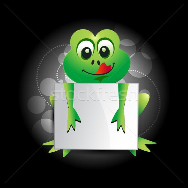 Stock photo: cartoon frog