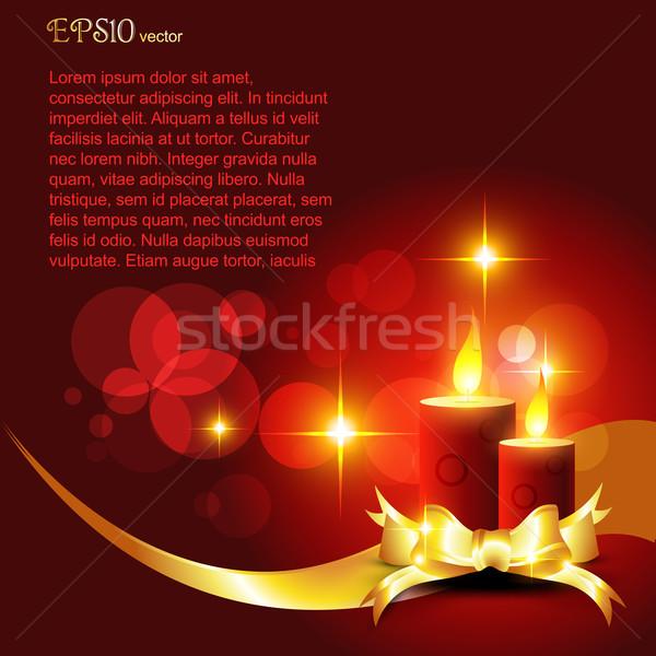Дивали красивой свечу красный Сток-фото © Pinnacleanimates