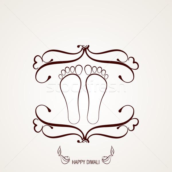ногу впечатление вектора иллюстрация дизайна фон Сток-фото © Pinnacleanimates