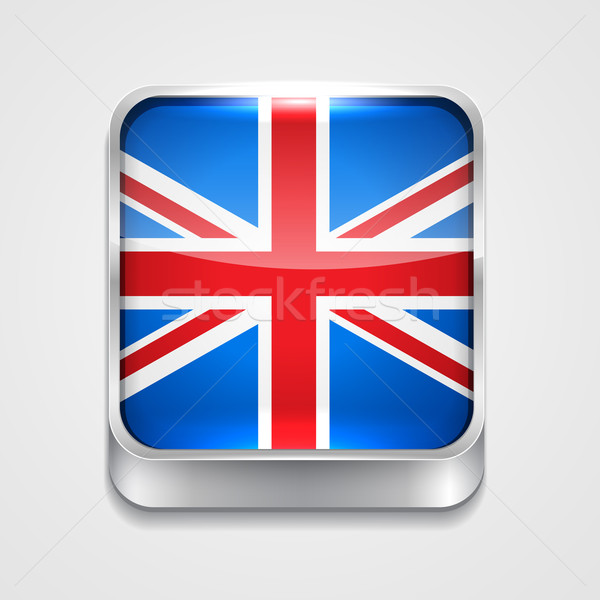 Bandiera Regno Unito vettore 3D stile icona Foto d'archivio © Pinnacleanimates