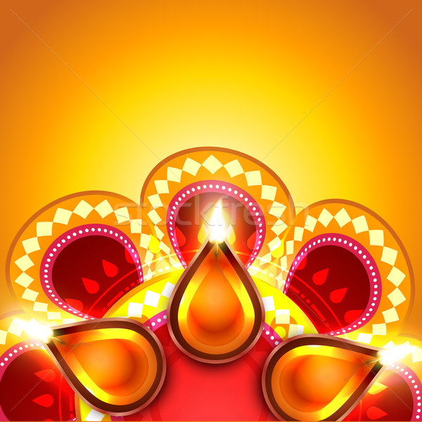 Diwali vector feliz luz diseno fondo Foto stock © Pinnacleanimates