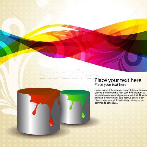 Vernice vettore secchio di vernice colori acqua felice Foto d'archivio © Pinnacleanimates