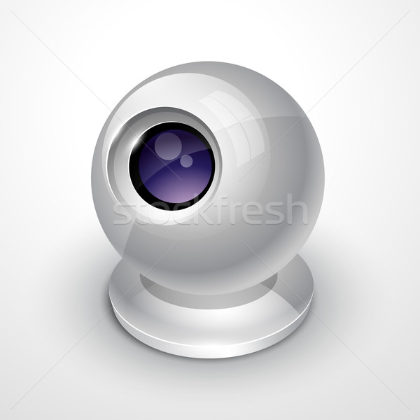 Stockfoto: Witte · webcam · vector · ontwerp · illustratie · computer