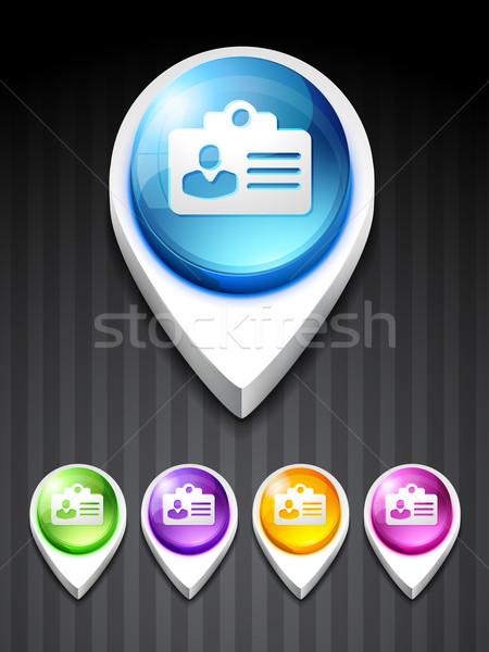 Kimlik kartı ikon vektör kişi 3D stil Stok fotoğraf © Pinnacleanimates