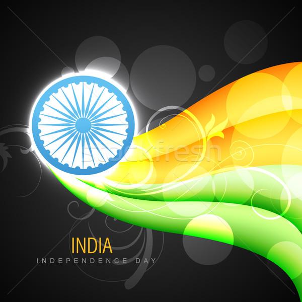 vector creative indian flag Stock photo © Pinnacleanimates