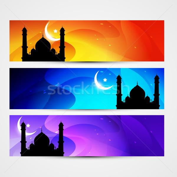 colorful eid headers Stock photo © Pinnacleanimates