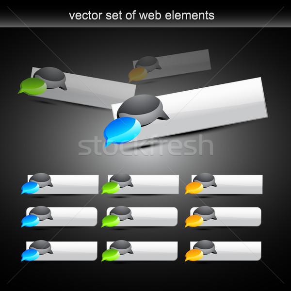 Vettore chattare bolla pulsante stile design web Foto d'archivio © Pinnacleanimates