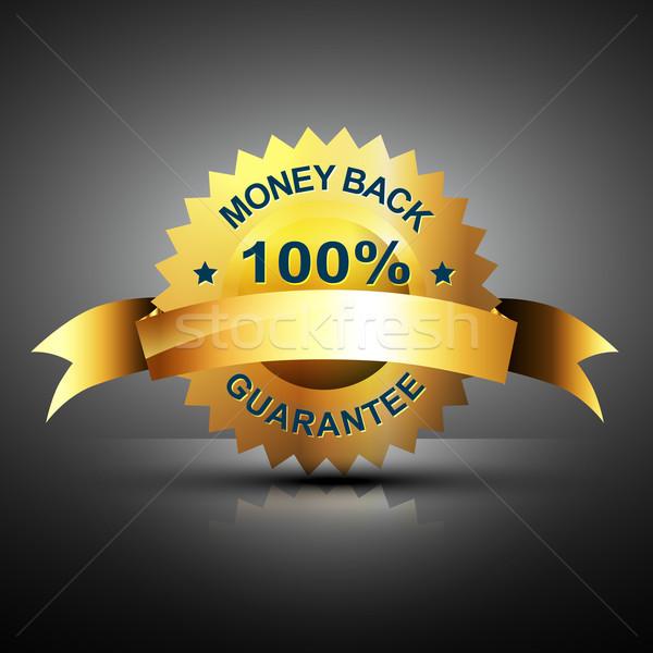 monet back guarantee icon in golden color Stock photo © Pinnacleanimates