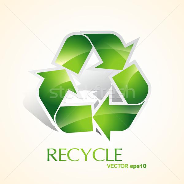 green recycle Stock photo © Pinnacleanimates