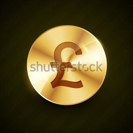 Pound altın sikke dizayn parlak etkileri Stok fotoğraf © Pinnacleanimates