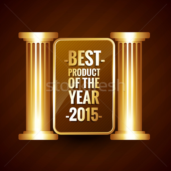 Foto stock: Mejor · producto · año · brillante · dorado · estilo