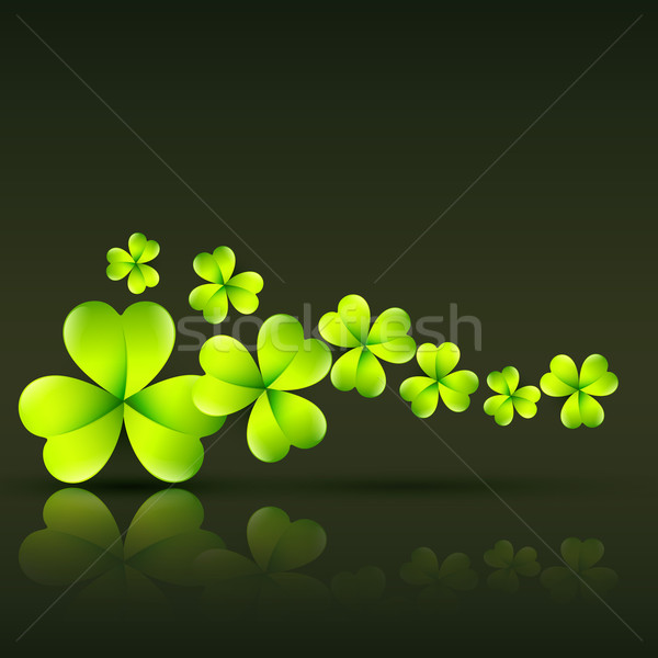 Grünen St Patricks Day Vektor stylish Natur Design Stock foto © Pinnacleanimates