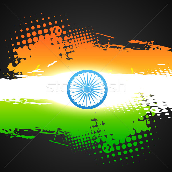 grunge style indian vector flag Stock photo © Pinnacleanimates