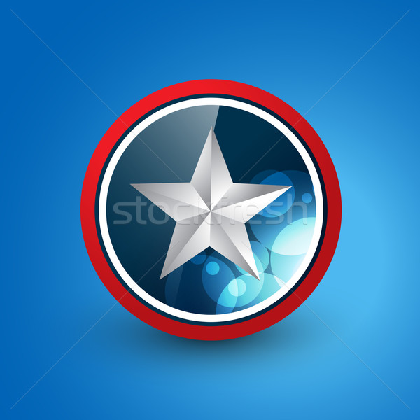 Star schild vector ontwerp illustratie partij Stockfoto © Pinnacleanimates