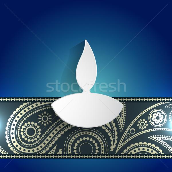 white diwali diya Stock photo © Pinnacleanimates