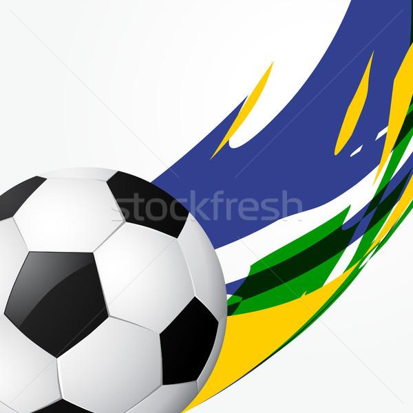 Resumen partido de fútbol estilo fútbol juego diseno Foto stock © Pinnacleanimates