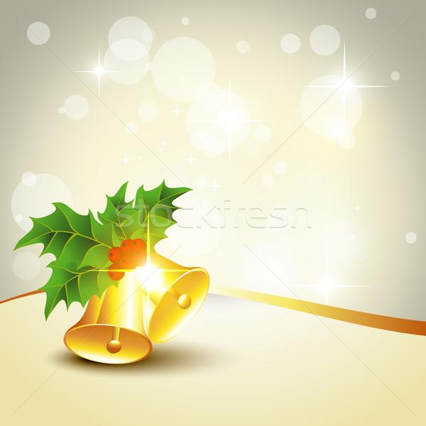 Vektor Weihnachten Hintergrund Kunst Gold schönen Stock foto © Pinnacleanimates