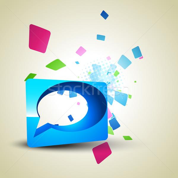 Chattare bolla vettore abstract design arte segno Foto d'archivio © Pinnacleanimates