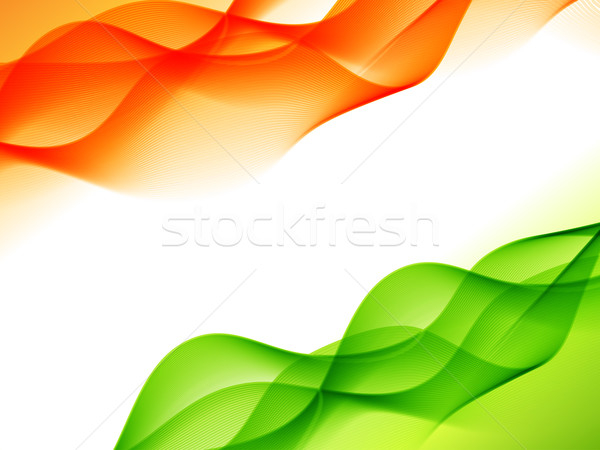Indian Flagge Design Welle Stil Vektor Stock foto © Pinnacleanimates