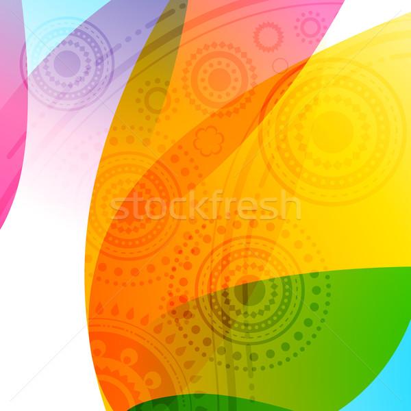 Colorido diwali vector feliz fondo lámpara Foto stock © Pinnacleanimates