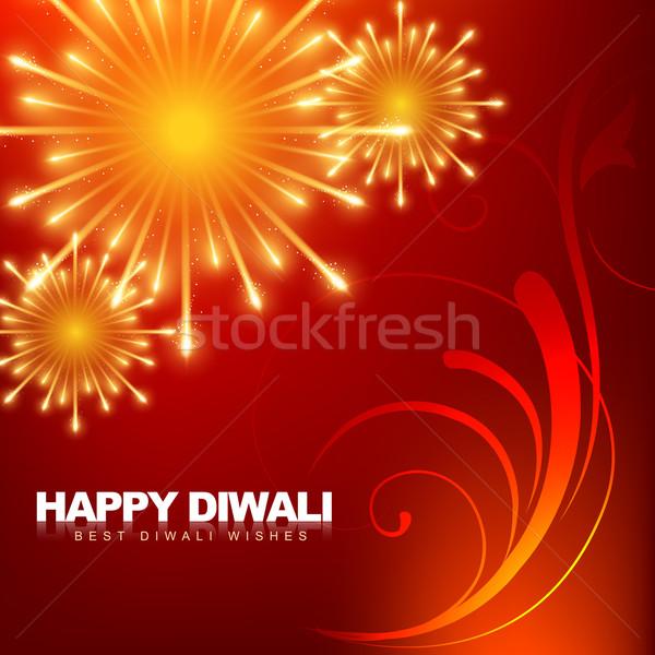 happy diwali fireworks Stock photo © Pinnacleanimates