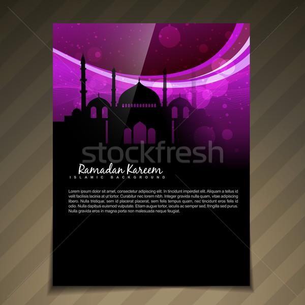 islamic brochure deesign Stock photo © Pinnacleanimates