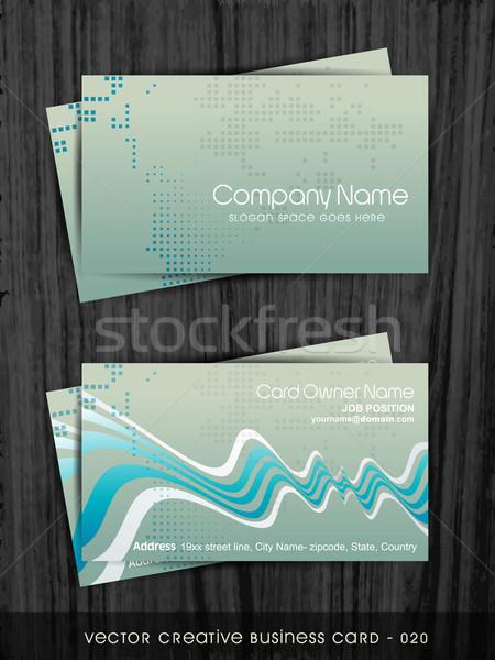vector business card Stock photo © Pinnacleanimates