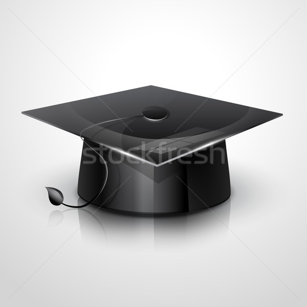 graduation cap vector Stock photo © Pinnacleanimates