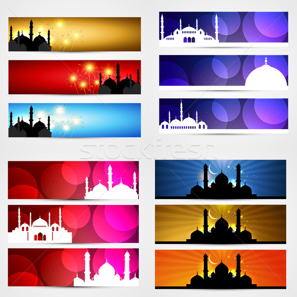 Vector collectie ramadan festival banner illustratie Stockfoto © Pinnacleanimates