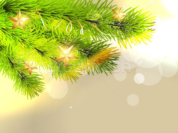 Stijlvol kerstboom christmas pijnboom ruimte abstract Stockfoto © Pinnacleanimates