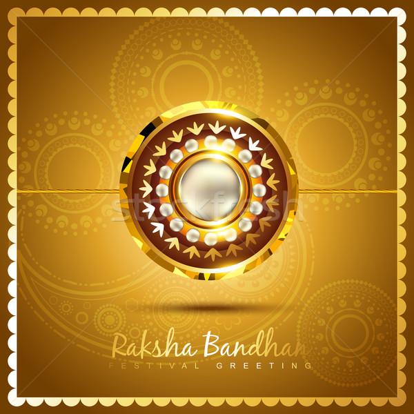 stylish rakhi background Stock photo © Pinnacleanimates