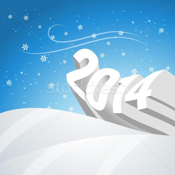 snowy new year Stock photo © Pinnacleanimates