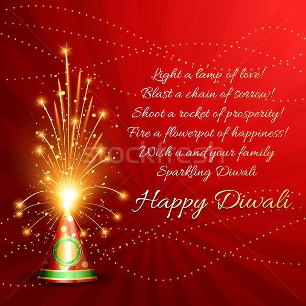 Happy diwali background Stock photo © Pinnacleanimates