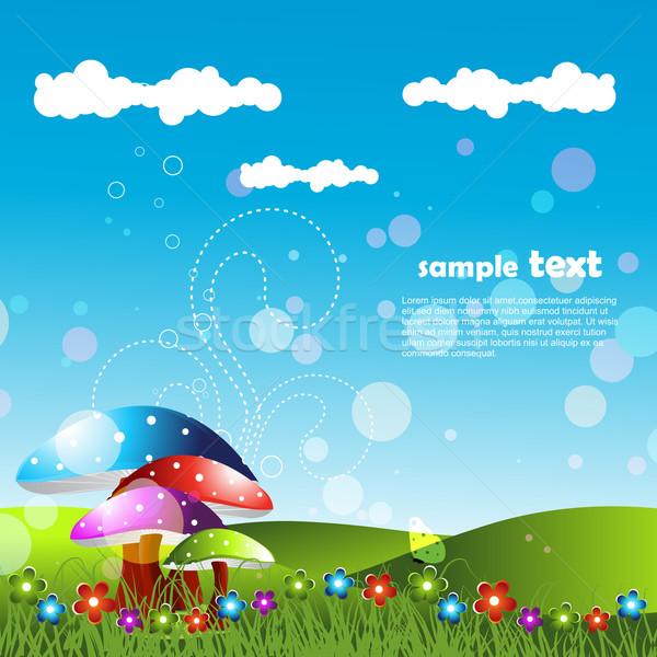artistic lanscape design Stock photo © Pinnacleanimates