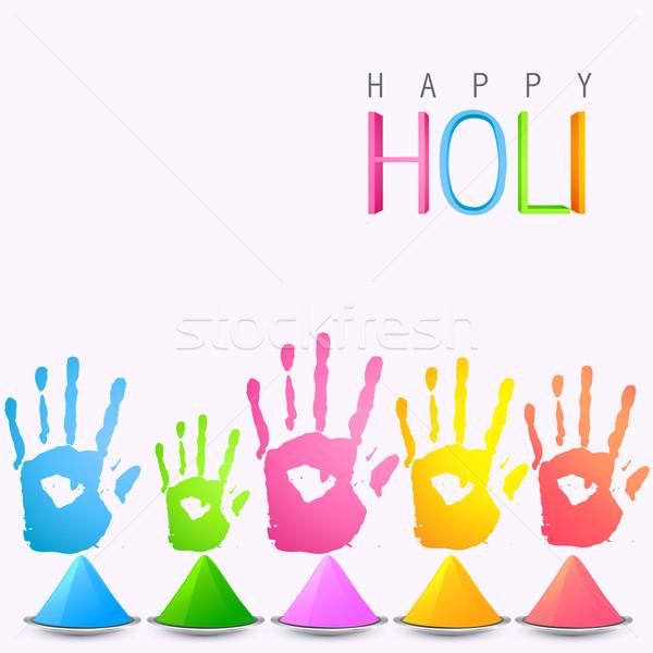 holi festival celebration Stock photo © Pinnacleanimates