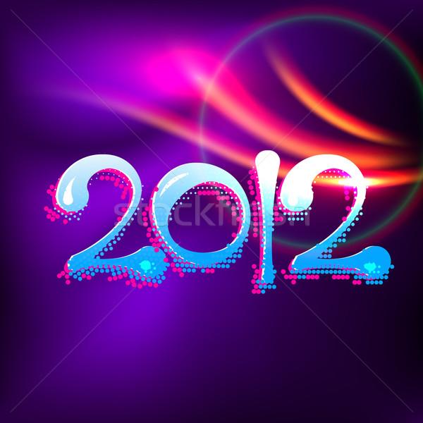 Stock fotó: Boldog · új · évet · vektor · kreatív · illusztráció · boldog · művészet