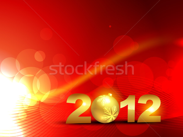 golden happy new year Stock photo © Pinnacleanimates