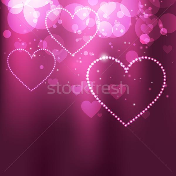 ベクトル 中心 美しい 愛 抽象的な ストックフォト © Pinnacleanimates