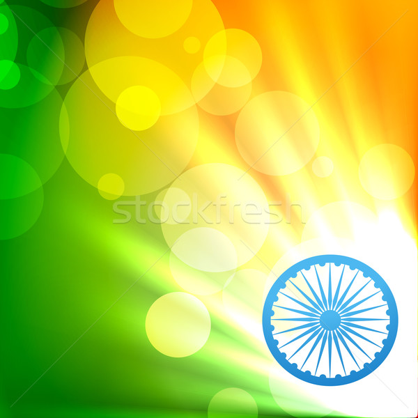 Indian vlag vector mooie Indië Stockfoto © Pinnacleanimates